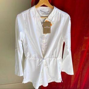 KATHMANDU NWT white blouse waisted (8)